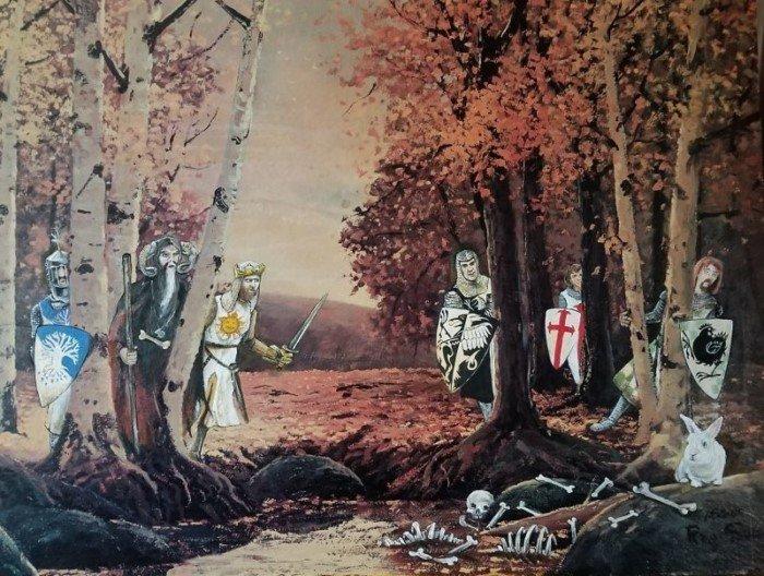 Современные персонажи на старых картинах из комиссионки