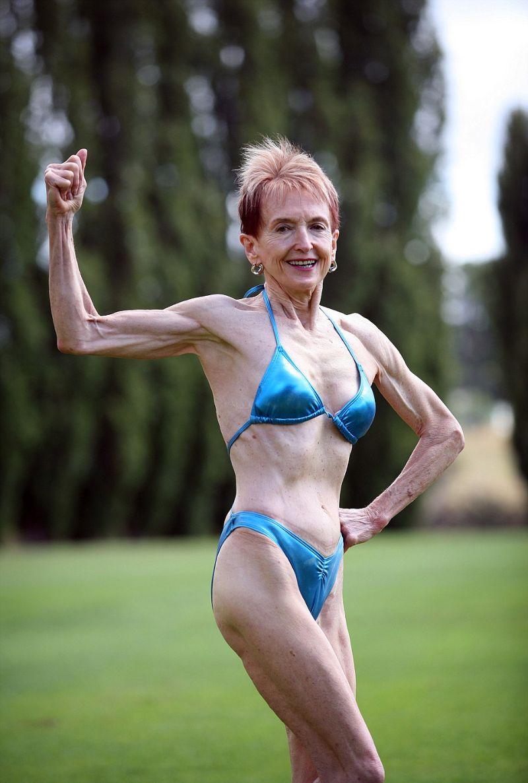 75-летняя бабушка - старейший австралийский бодибилдер