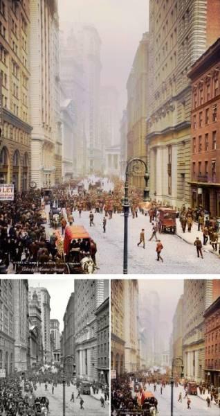 Америка на старых фотографиях после колоризации