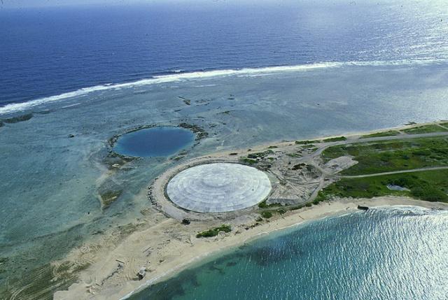 Бетонный купол на Маршалловых островах