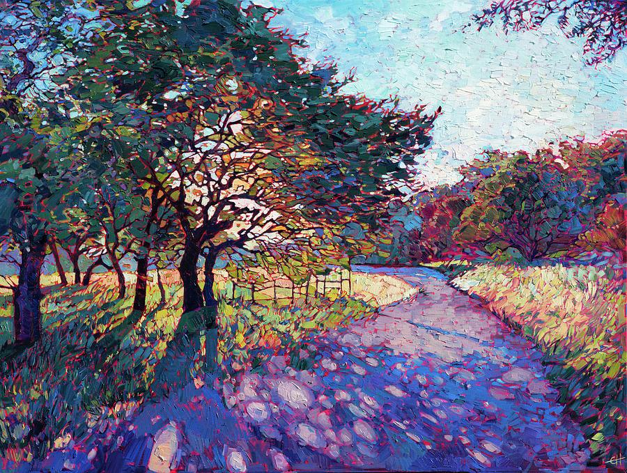 Красочные пейзажи маслом от Эрин Хансон