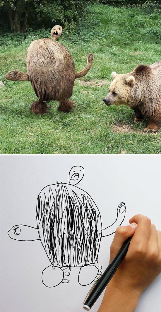 Креативный отец воплотил детские рисунки в жизнь