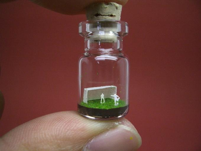 Крошечные миры в бутылках от Akinobu