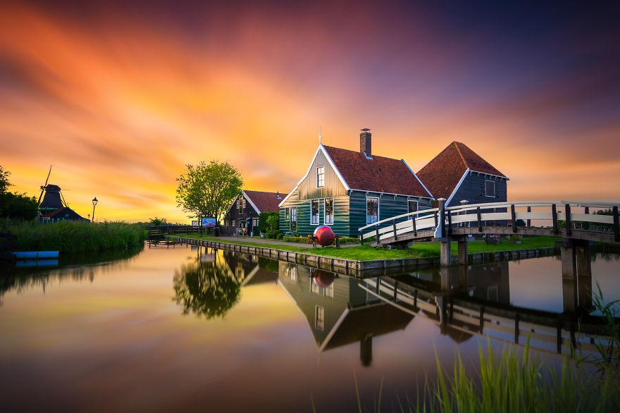 Городские и природные пейзажи Нидерландов