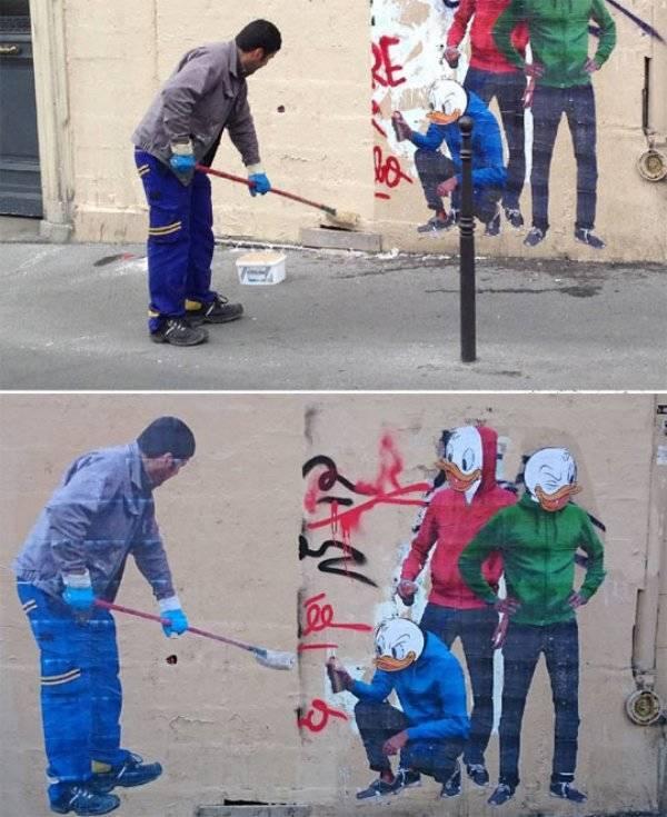Необычное уличное искусство