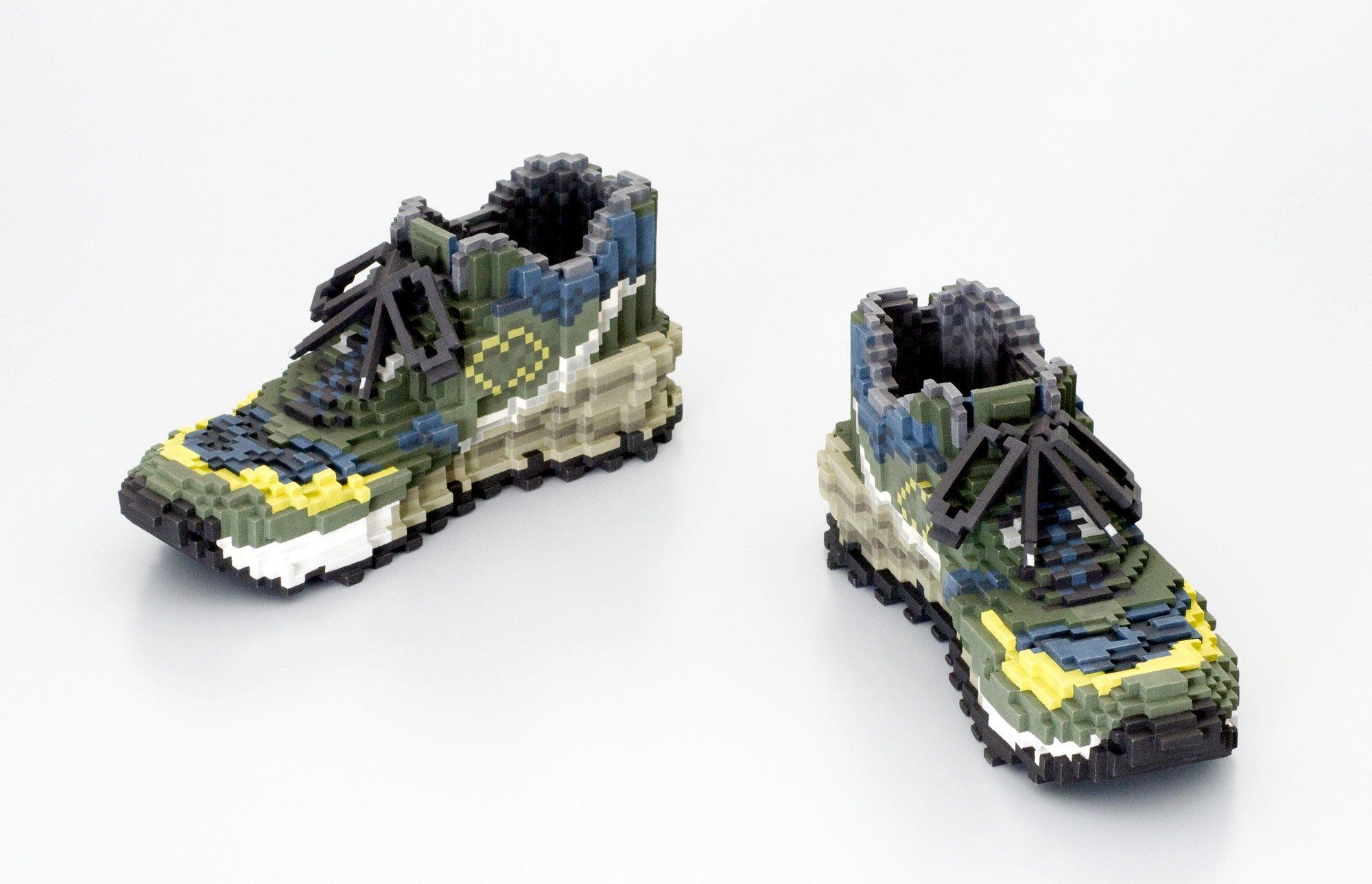 Керамические пиксельные скульптуры от Тосии Масуды