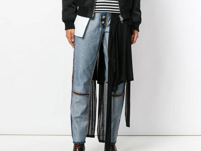 Вывернутые наизнанку джинсы за 470 баксов