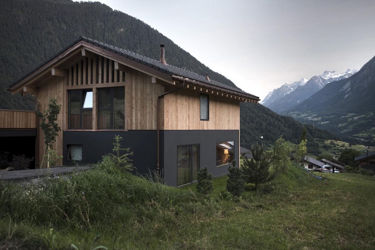 Дом с видом на горы в Швейцарии