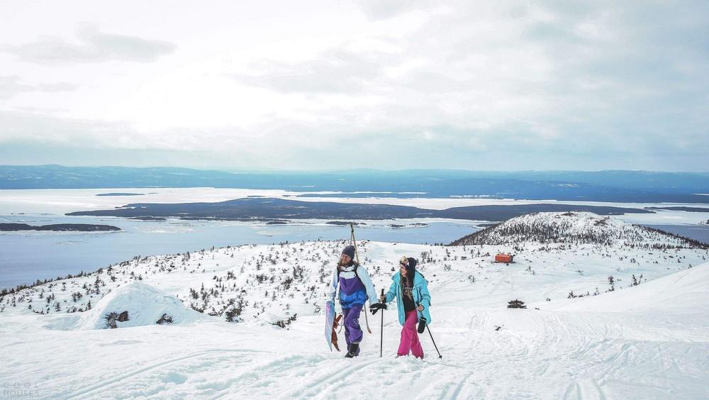 Туристический приют с видом на Белое море
