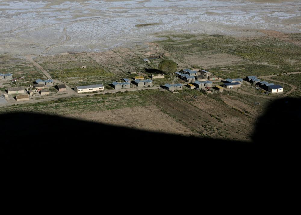 В Боливии озеро практически исчезло из-за изменения климата