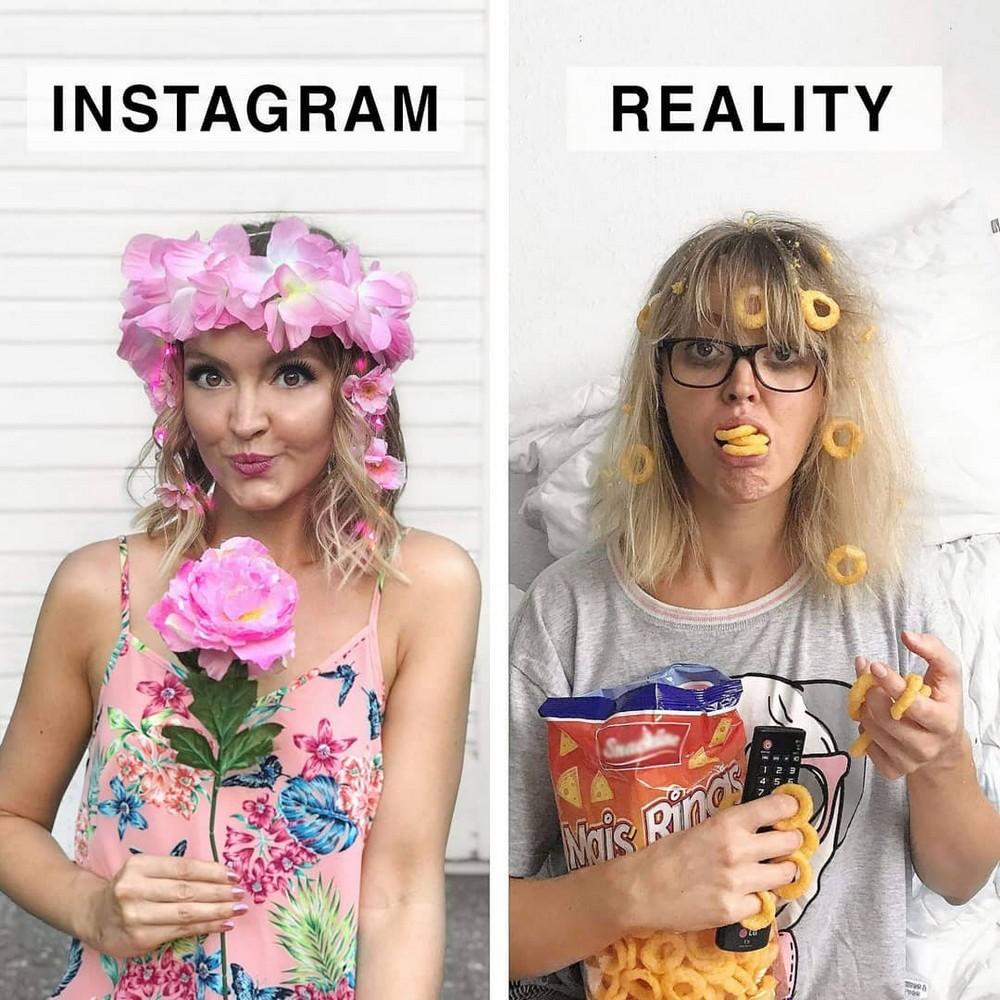 Художница высмеивает гламурные фотографии из Instagram