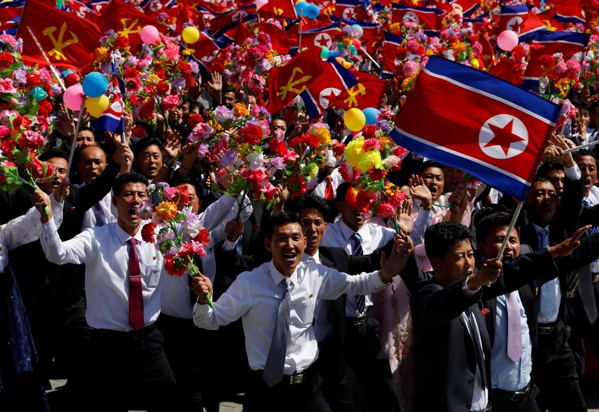 Парад в честь 70-летия Корейской Народно-Демократической Республики