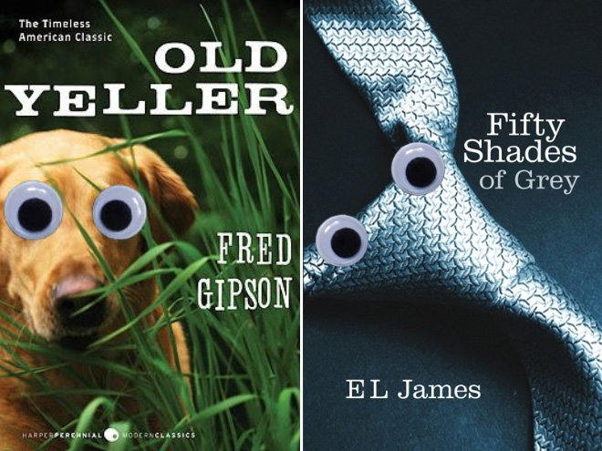 Обложки книг с игрушечными глазами