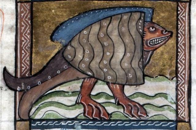 Экзотические животные на комичных рисунках средневековых художников