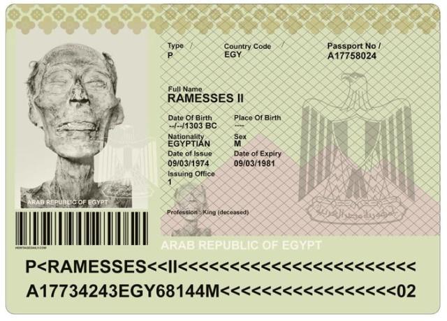 Настоящий паспорт для фараона