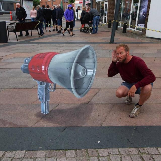 Невероятно реалистичные 3D-граффити от Леона Кира