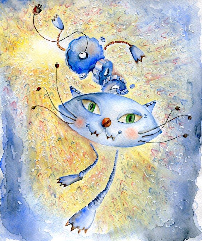 Кошки в стиле знаменитых художников и направлений живописи