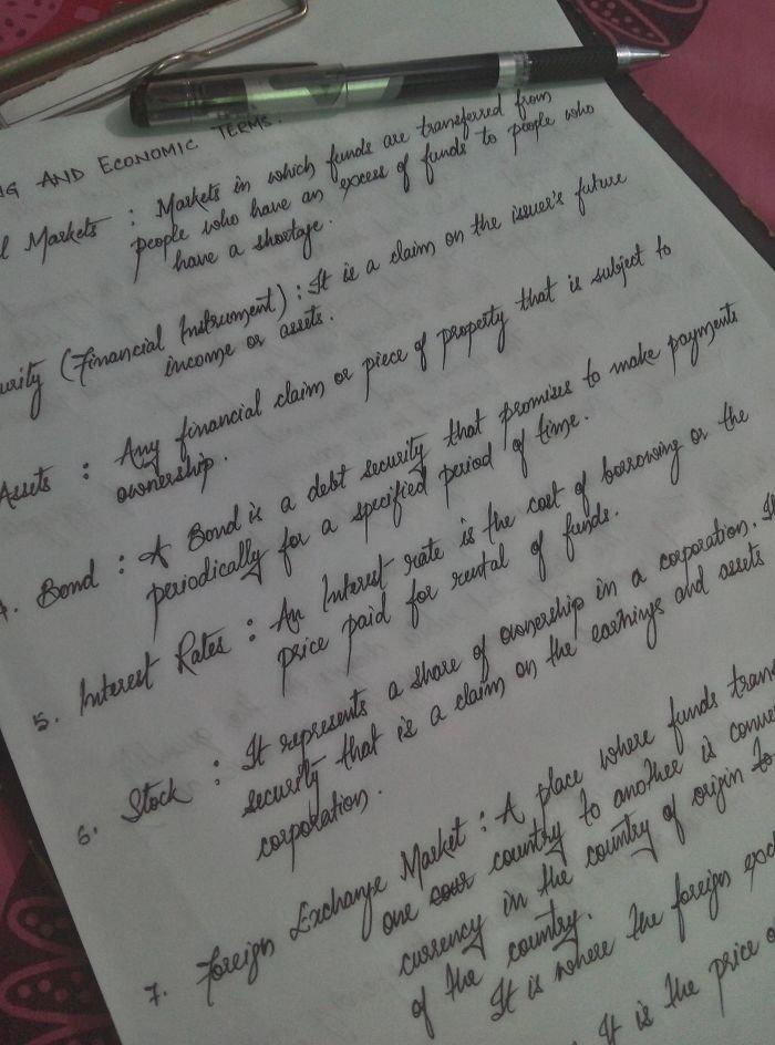 Красивый почерк и каллиграфия