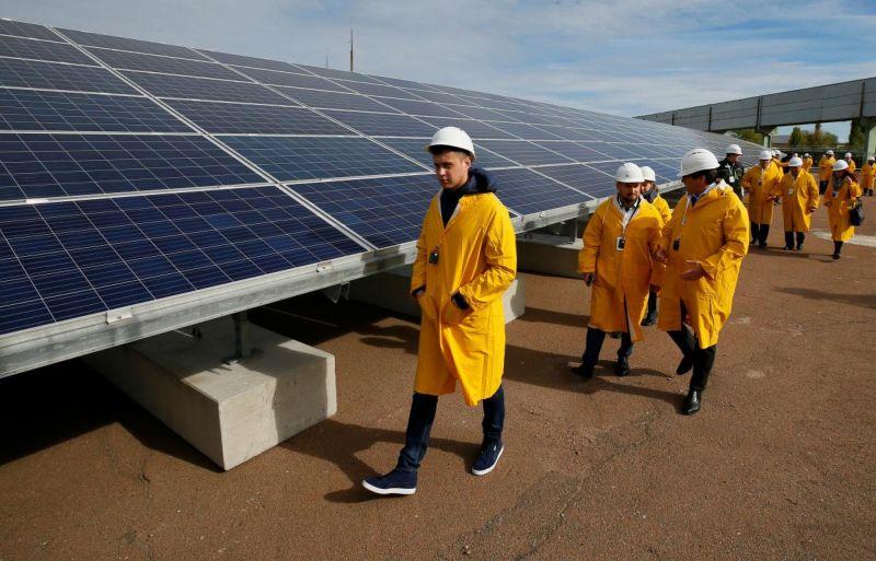 В Чернобыле открыли солнечную электростанцию