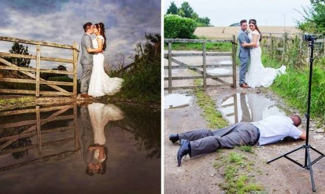 Креативные и необычные свадебные фотографии