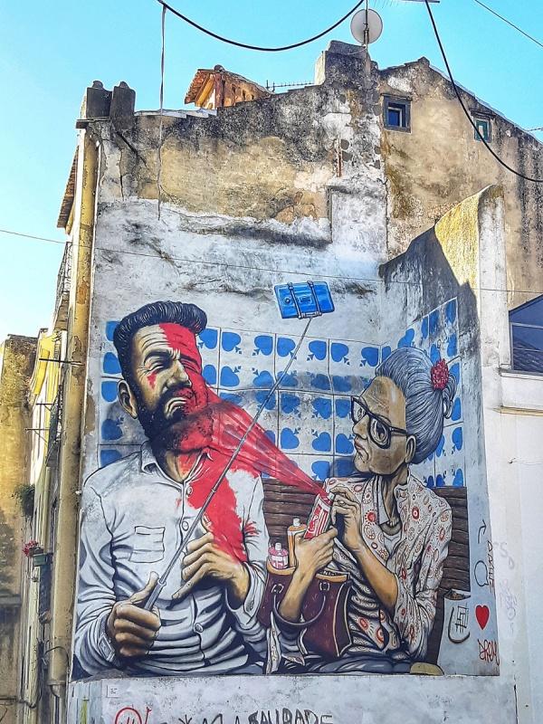 Стрит-арт и граффити на улицах Лиссабона