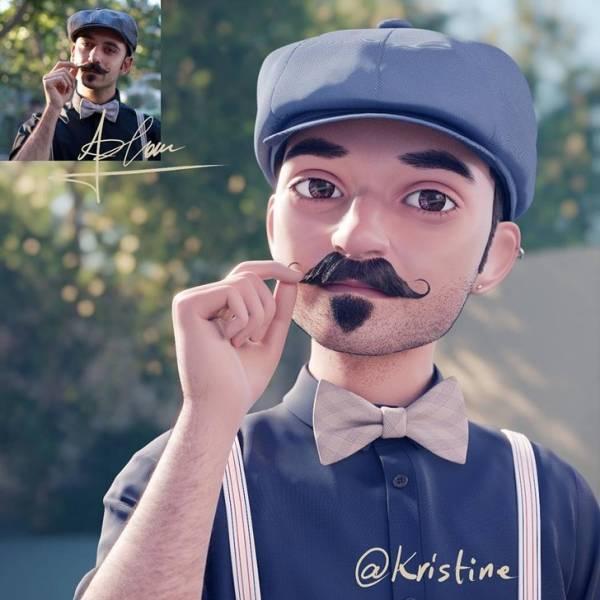 Лэнс Фан превращает своих подписчиков в героев 3D-мультфильмов