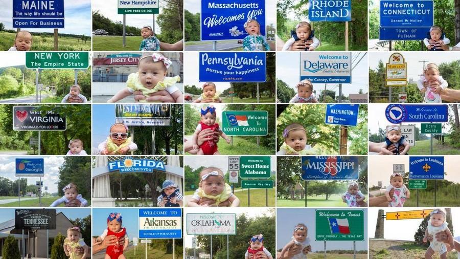 Пятимесячная Харпер посетила все 50 штатов США
