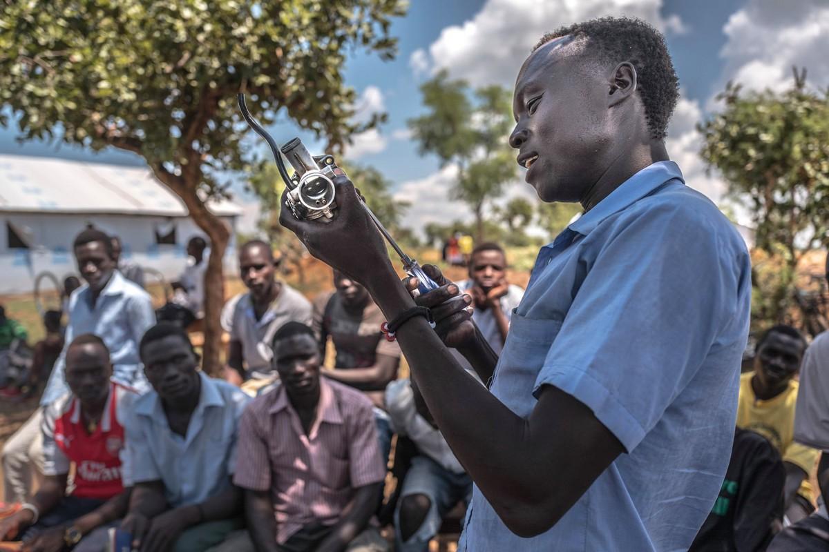Жизнь в лагере беженцев на северо-западе Уганды