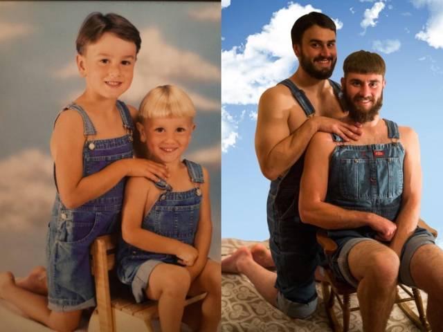 Детские фотографии спустя годы