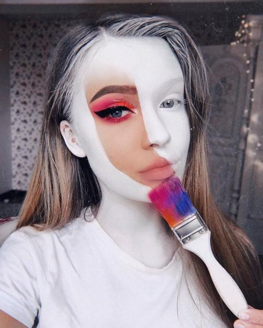 Визажист из Литвы создает удивительный художественный макияж