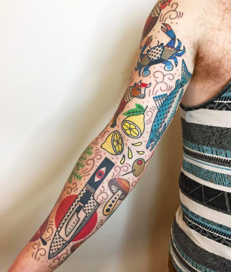 Психоделические татуировки с широким спектром цветов