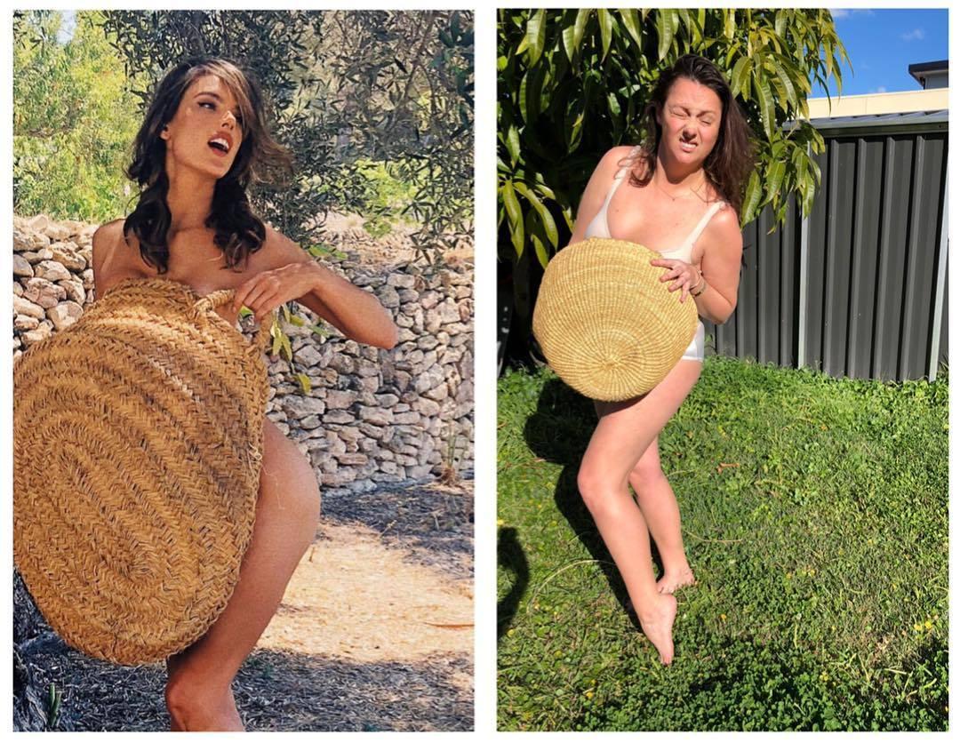 Селеста Барбер продолжает пародировать снимки знаменитостей в Instagram
