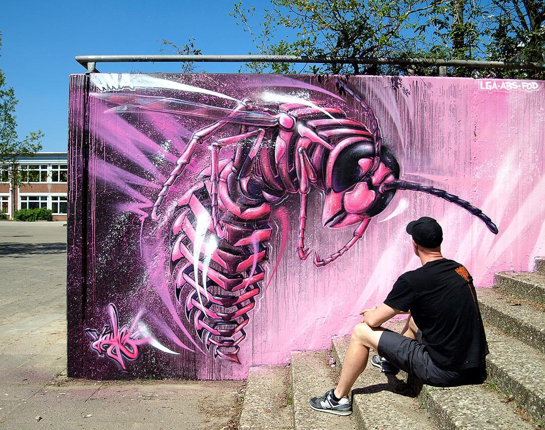 Удивительные существа в работах немецкого стрит-арт художника Jayn