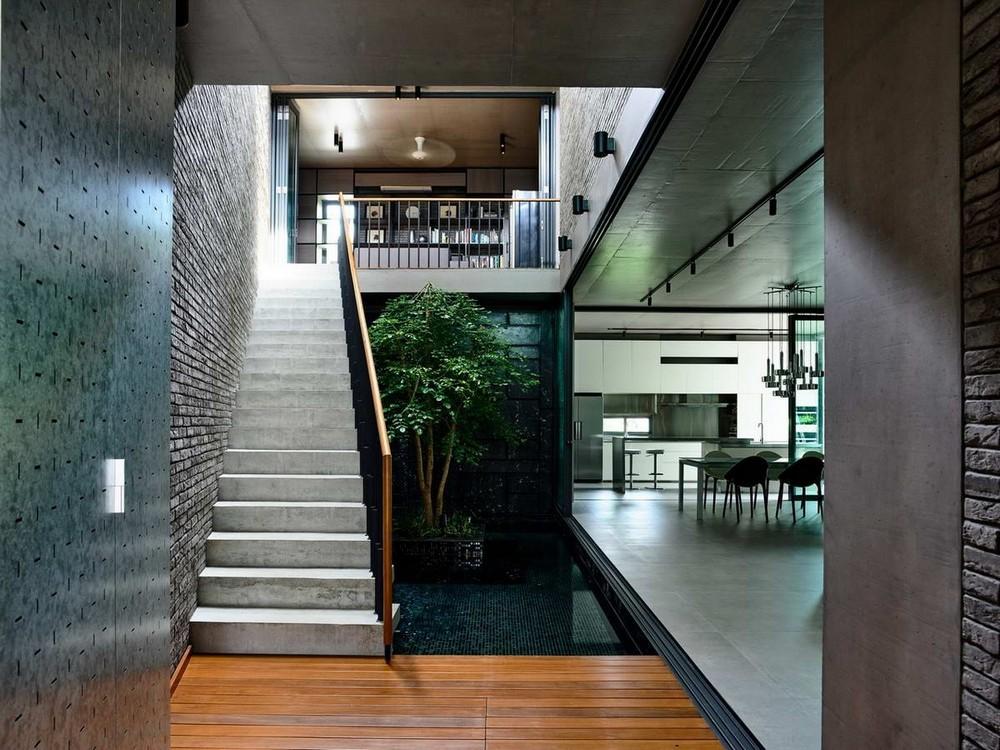 Современный кирпичный дом в Сингапуре