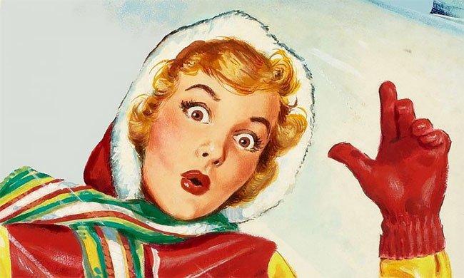 Уууу лицо - модный западный тренд 1950-х годов