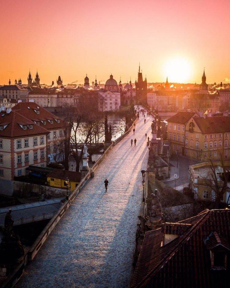 Сказочные фотографии Праги с высоты