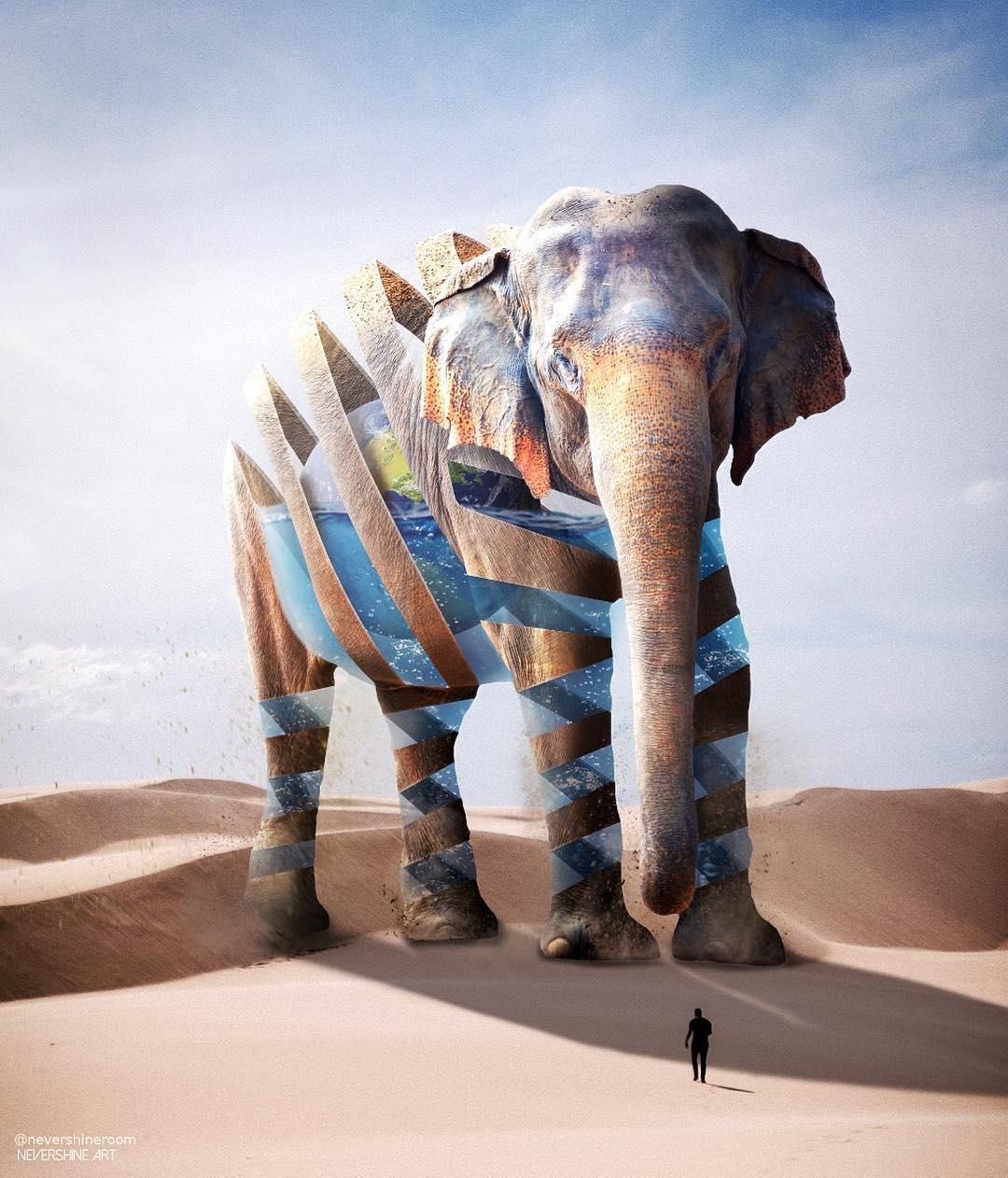 Сказочные животные на фотоманипуляциях Адэ Маолана