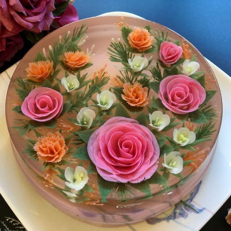 Классные трехмерные торты из желе, которые жалко есть