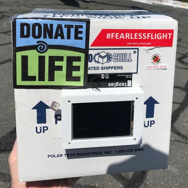 Специальный дрон доставил донорскую почку для трансплантации