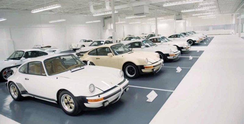 Необычная коллекция белых Porsche