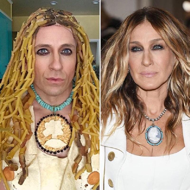 Пародии на наряды знаменитостей из подручных средств