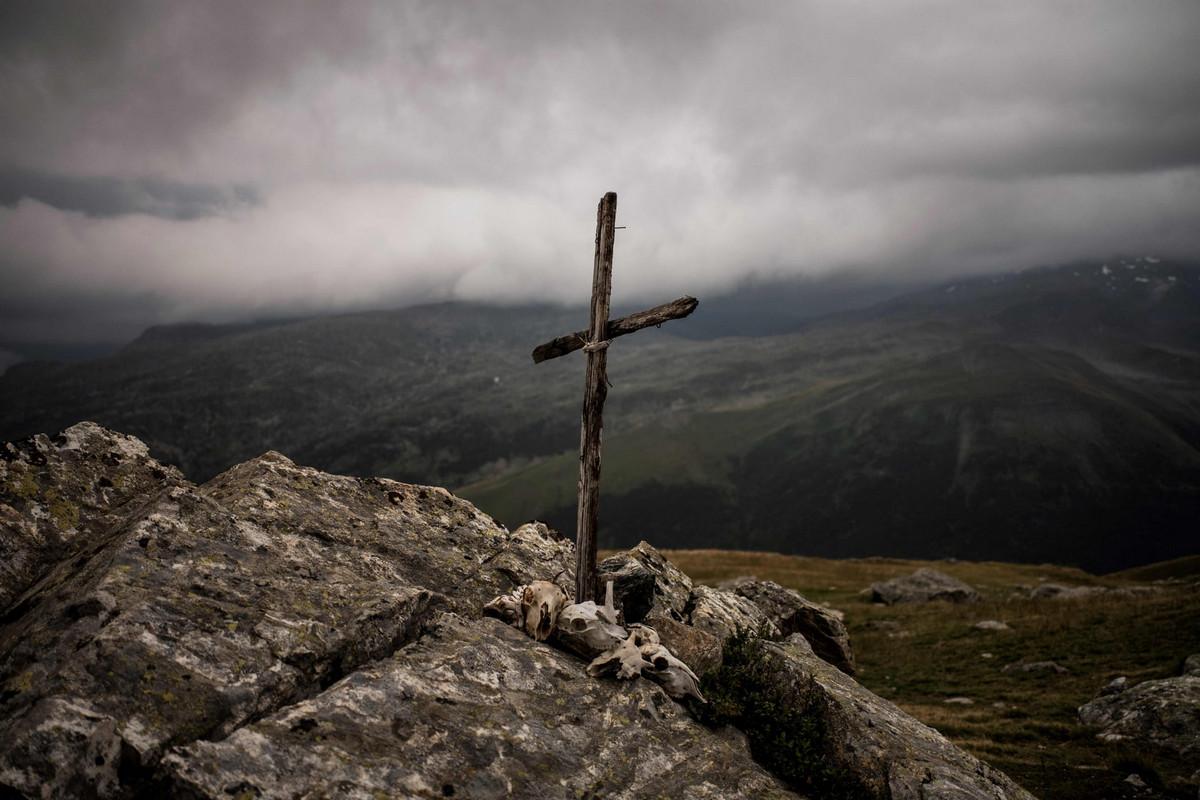 Фоторепортаж о жизни пастуха в Альпах