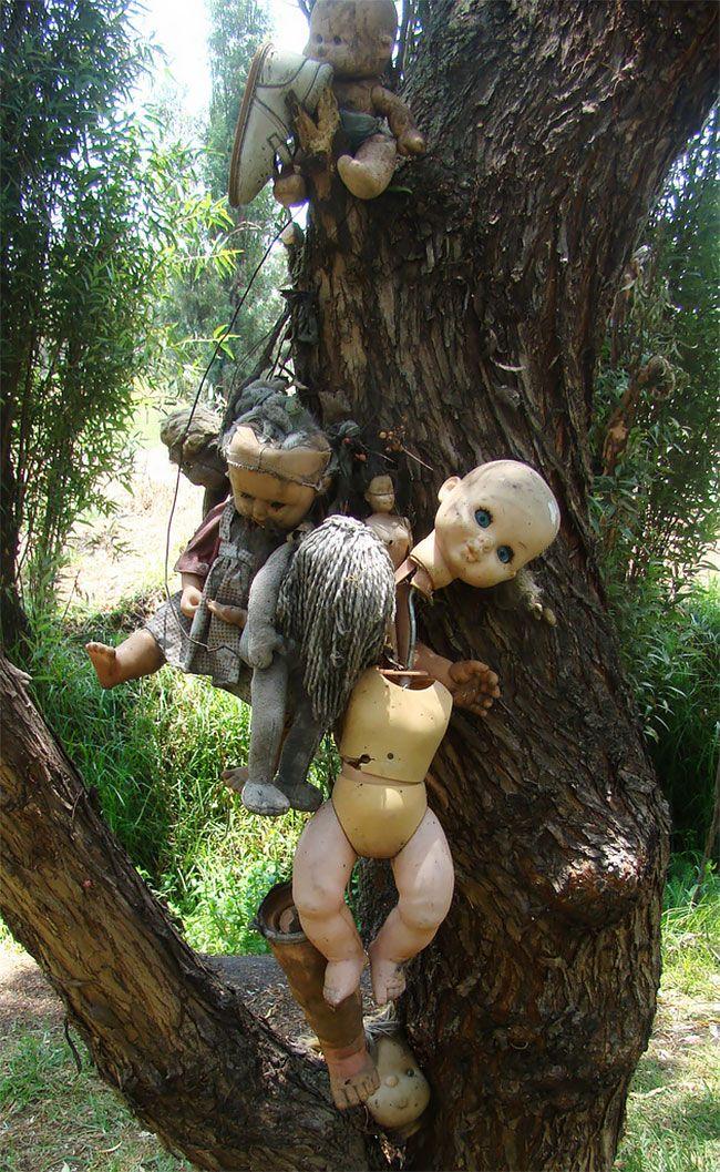 Остров с жуткими куклами, оставленными для призрака утопленницы (ФОТО)