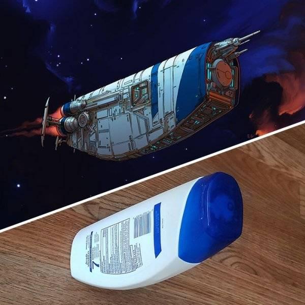 Космические корабли в форме обычных предметов