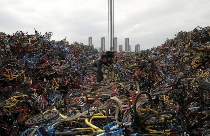 Как велосипеды наводнили Китай