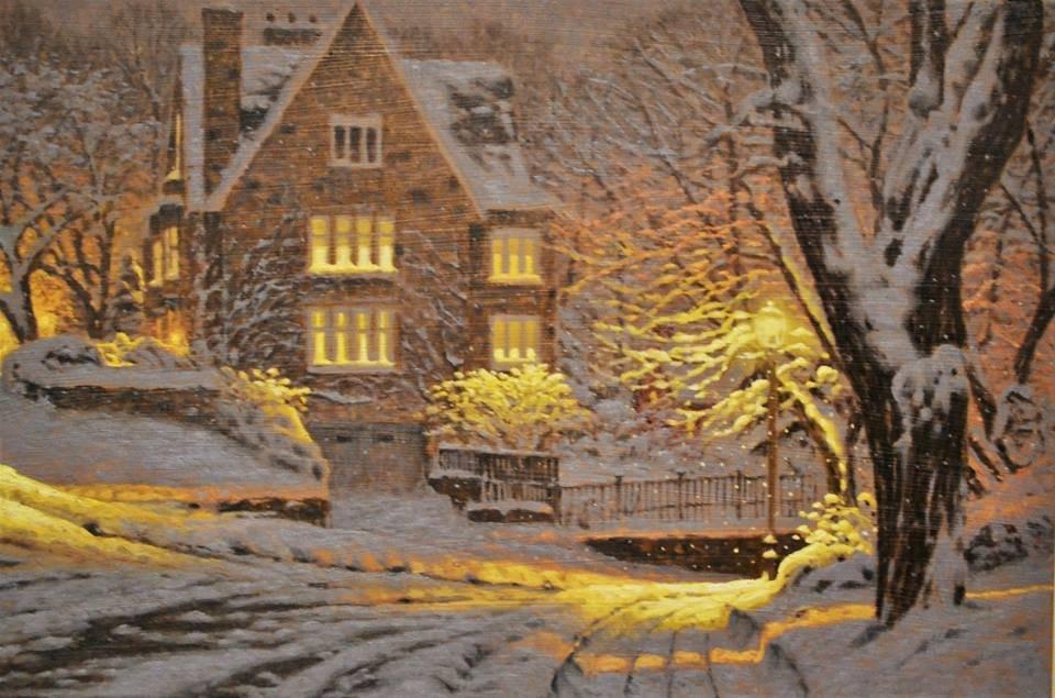 Зимние картины Ришара Савуа наполнены праздничным теплом