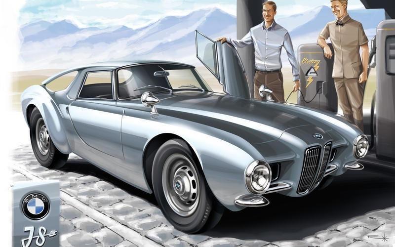 Как бы выглядели современные авто в прошлом веке