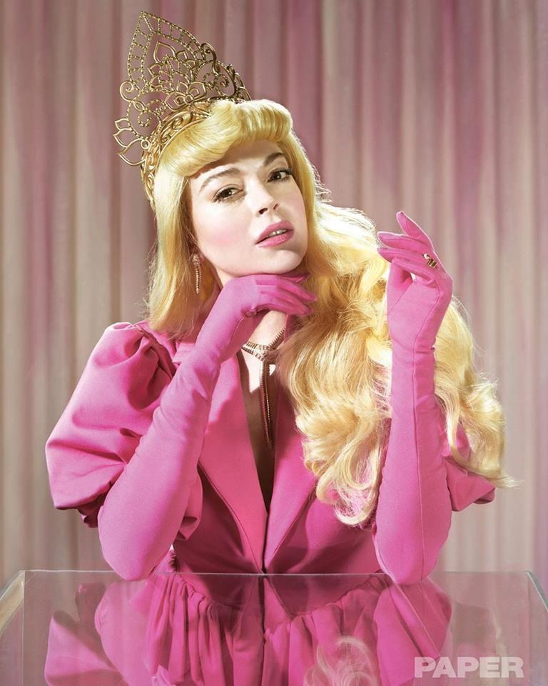 Линдси Лохан в образах принцесс Диснея