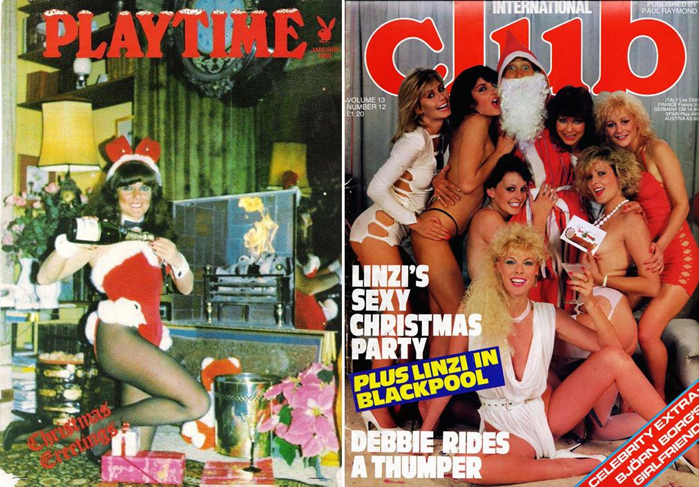 Новогодние ретрообложки мужских журналов