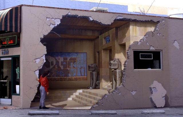 Оптические иллюзии на городских стенах